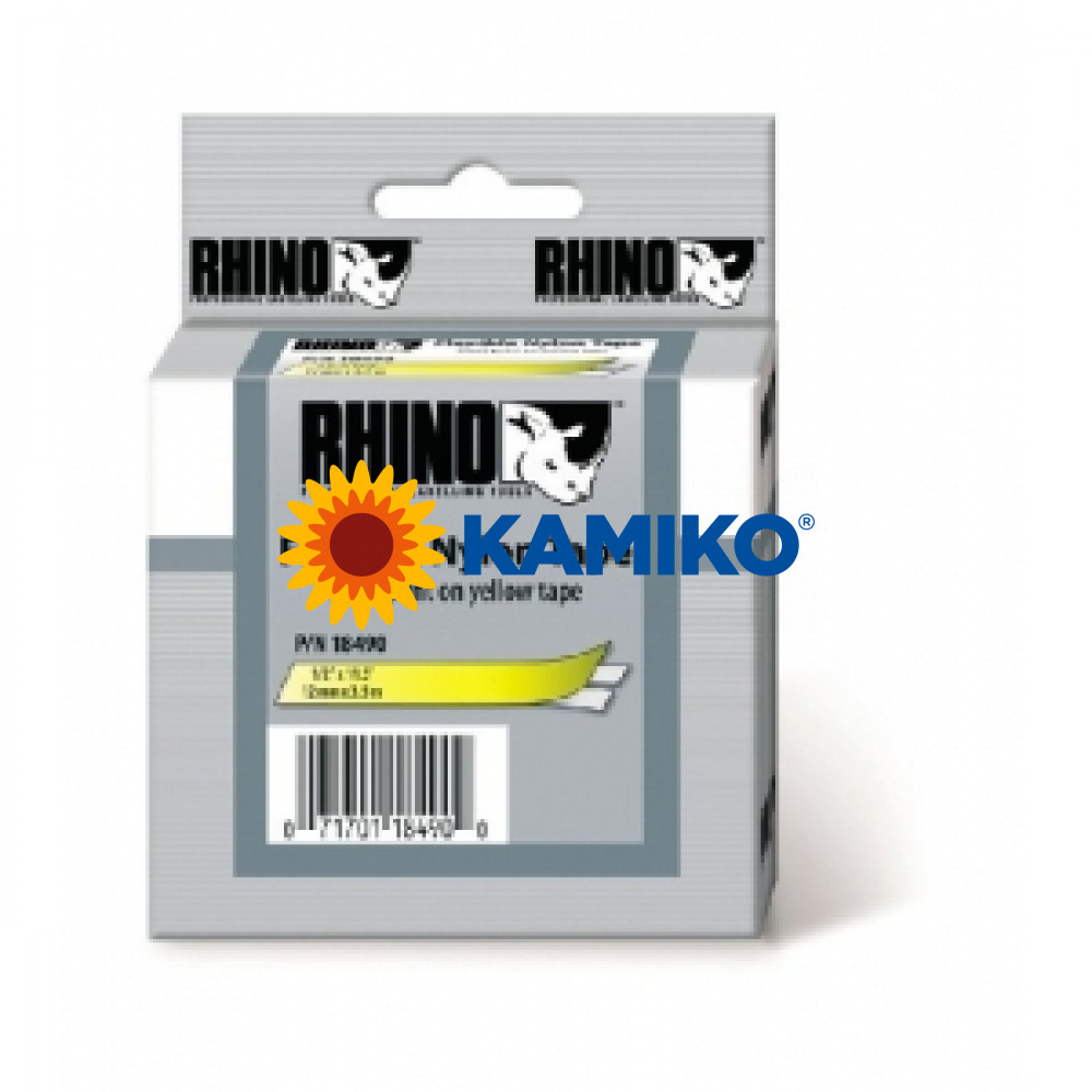 Flexibilná nylonová páska Dymo D1 19mm žltá/čierna