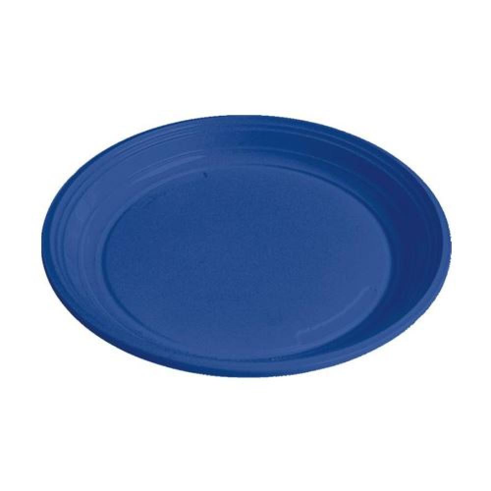 Plastový tanier modrý 22 cm (PS)