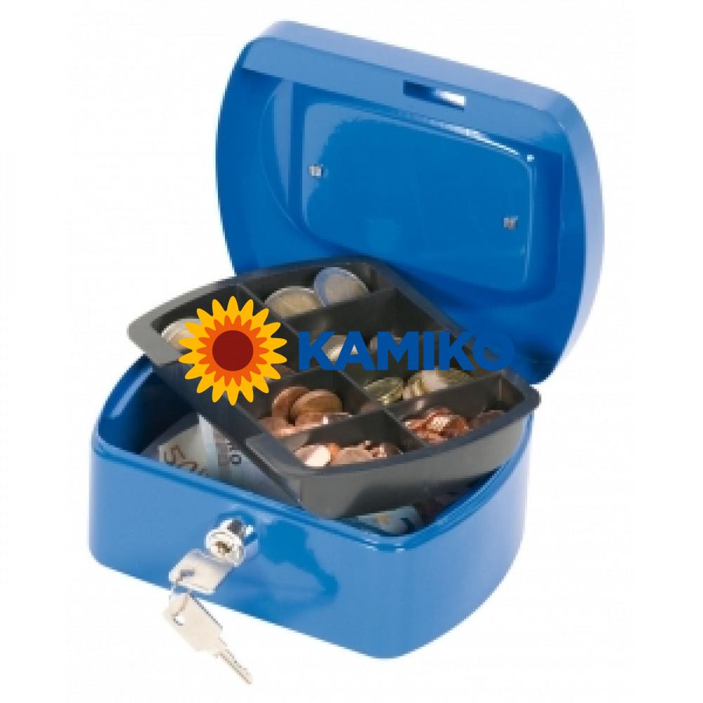 Pokladnička Q-CONNECT 155 x 75 x 120 mm modrá