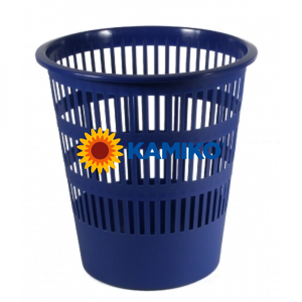 Kôš plastový rebrovaný 12 l modrý
