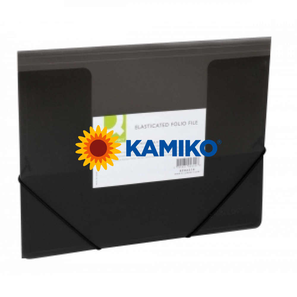 Obal na dokumenty s tromi chlopňami Q-Connect čierny