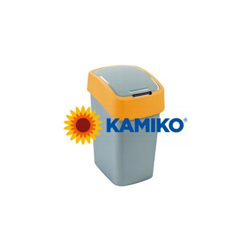 Curver odpadkový kôš Flipbin 50 l strieborná/žltá