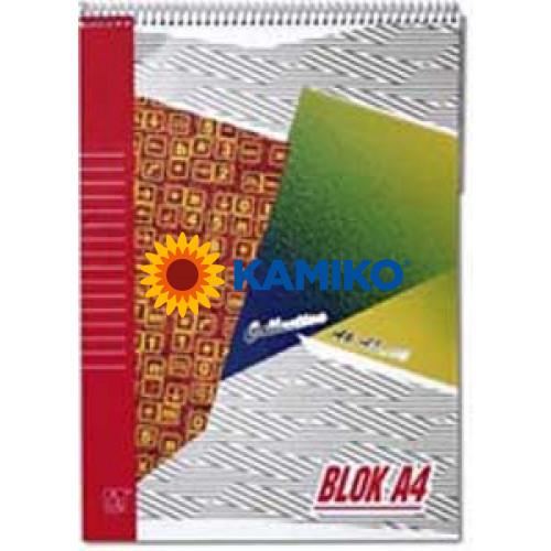 Blok so špirálou hore A4 50 listov linajkový