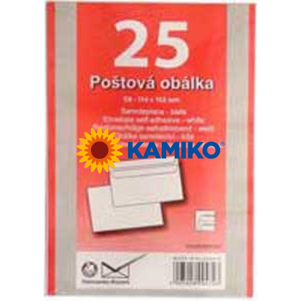 Poštové obálky C6 samolepiace, 25 ks