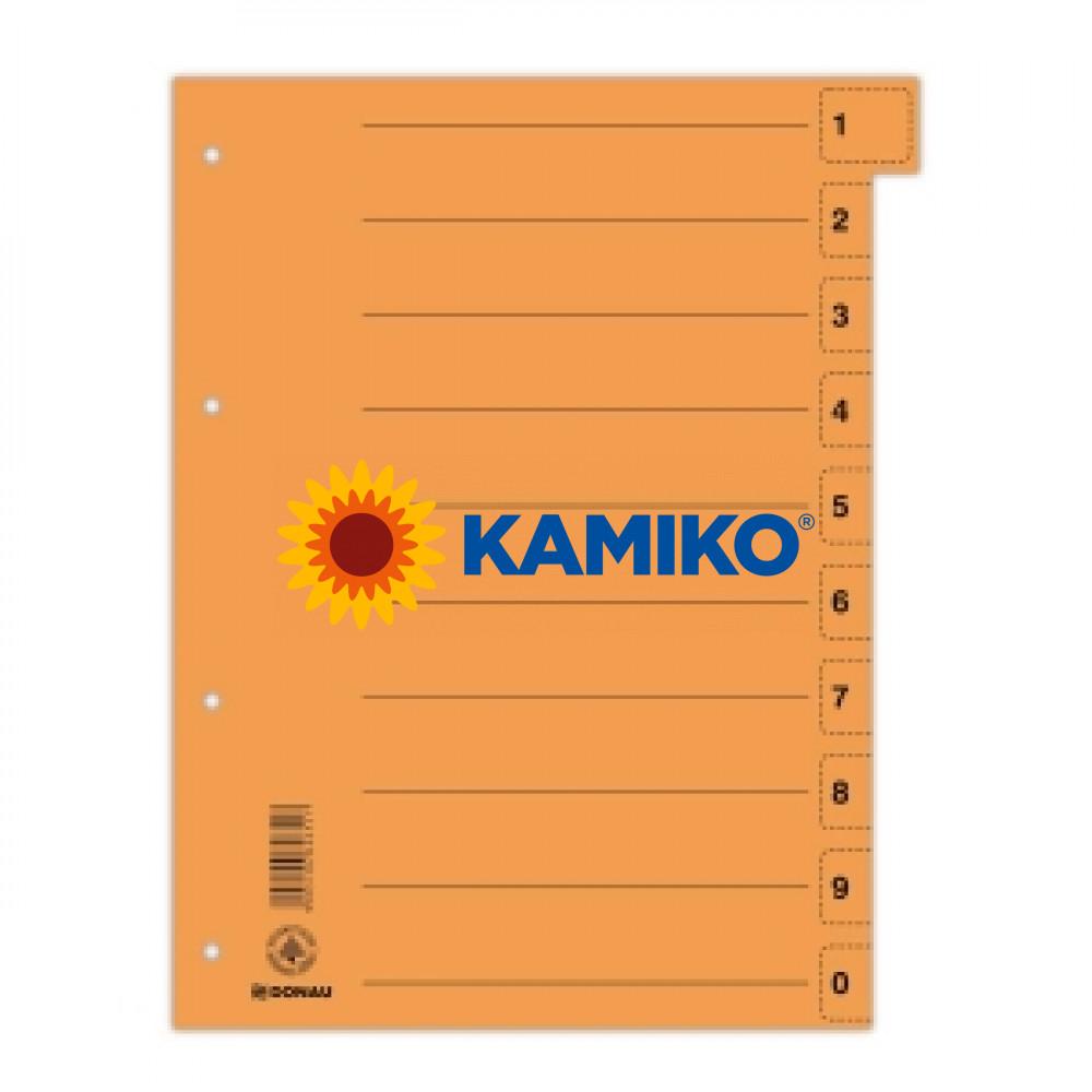 Kartónový rozraďovač odtrhávací oranžový