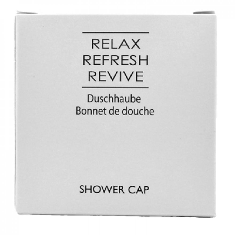 Sprchovacia čiapka Relax Refresh Revive v krabičke