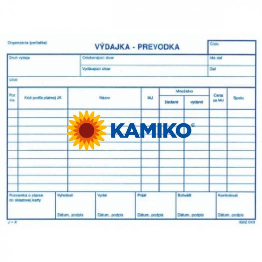 Výdajka - prevodka bez DPH blok A5 100 list