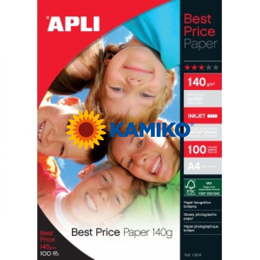Fotopapier APLI A4 Best Price lesklý 140g, 100 hárkov