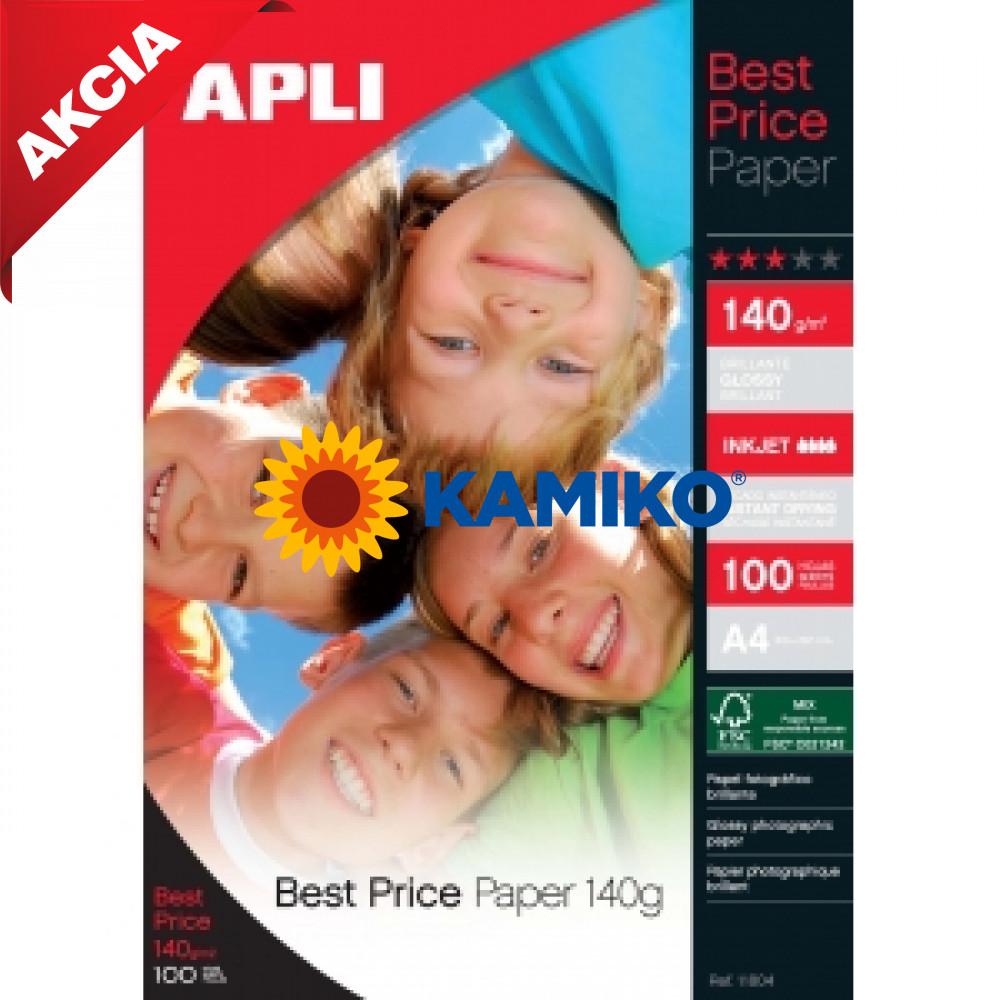 Fotopapier APLI A4 Best Price lesklý 140 g, 100 hárkov