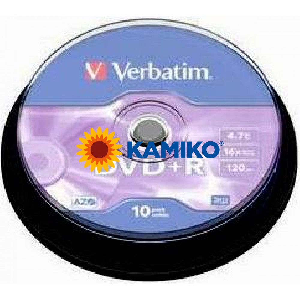 Verbatim DVD+R 16x cake 10 ks