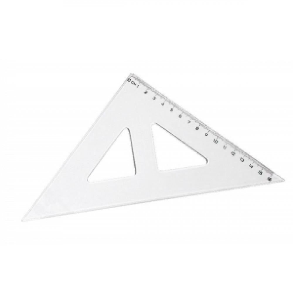 Pravítko trojuholník s kolmicou
