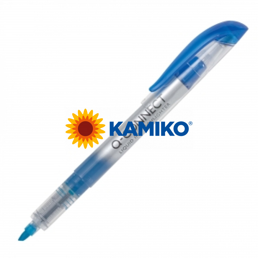 Zvýrazňovač Q-CONNECT liquid ink modrý
