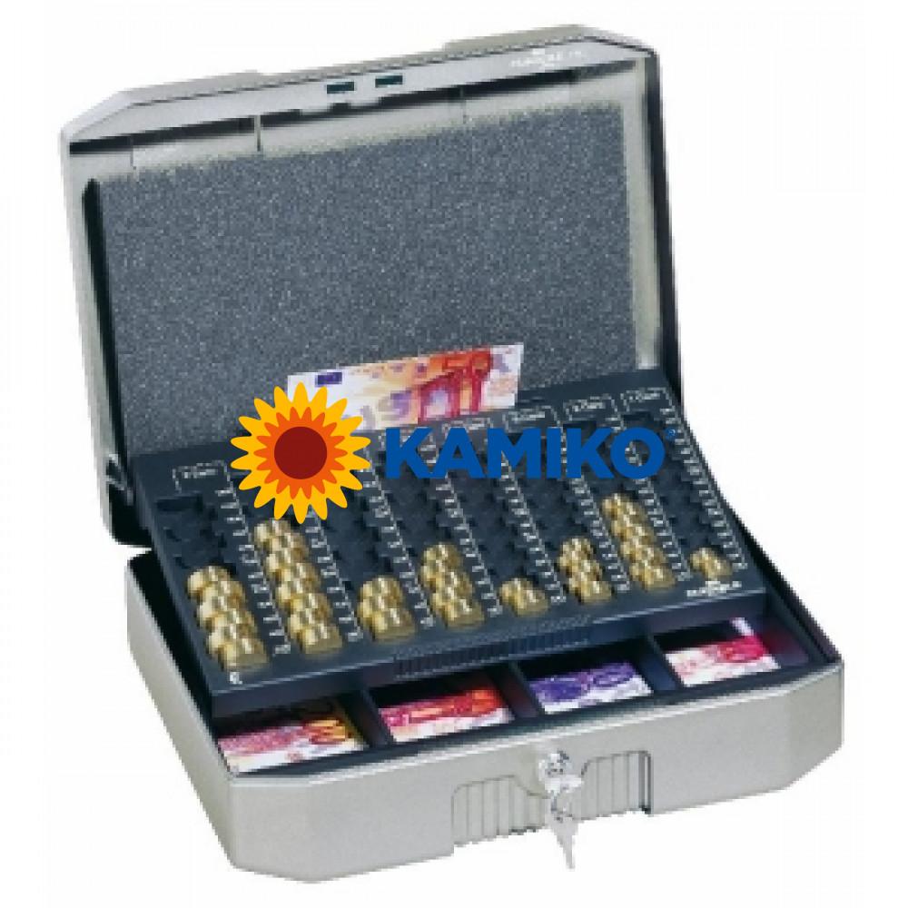 Euro-pokladnička DURABLE EUROBOXX 352 x 120 x 276 mm, strieborná