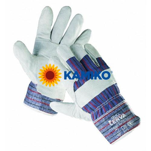 Rukavice GULL pracovné, textilno-kožené