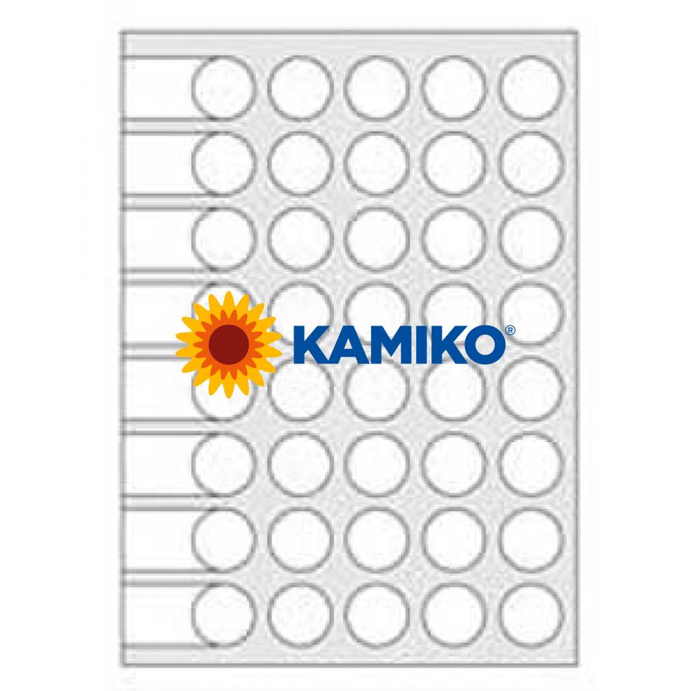 Agipa Etikety kruhové pr. 24 mm biele, 16 hárkov