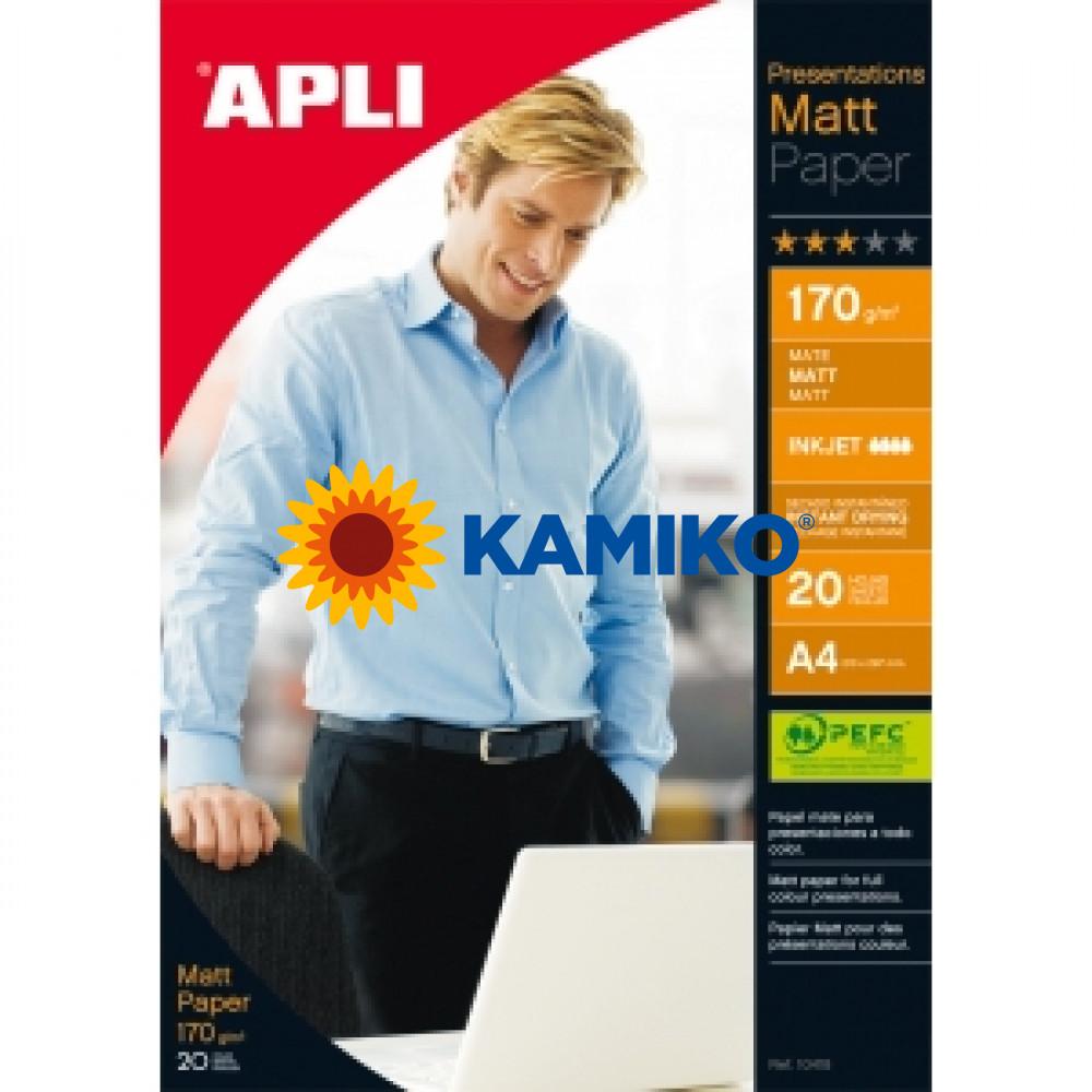 Fotopapier APLI A4 matný 170g, 20 hárkov