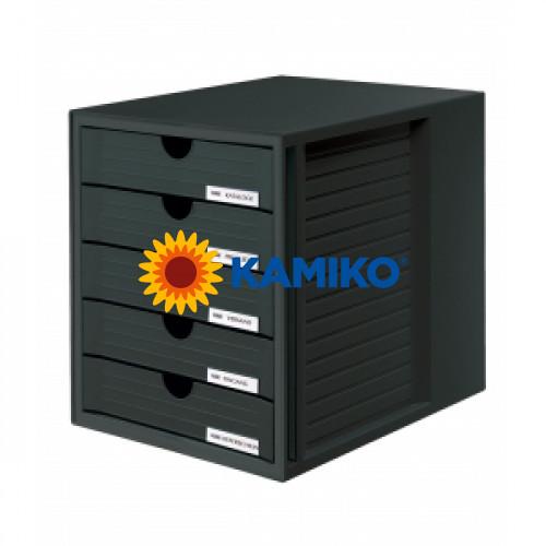 Zásuvkový box System zatvorený čierny