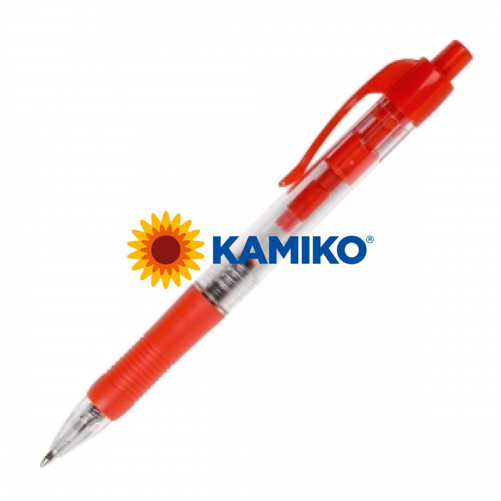 Guličkové pero Q-CONNECT klikacie červené