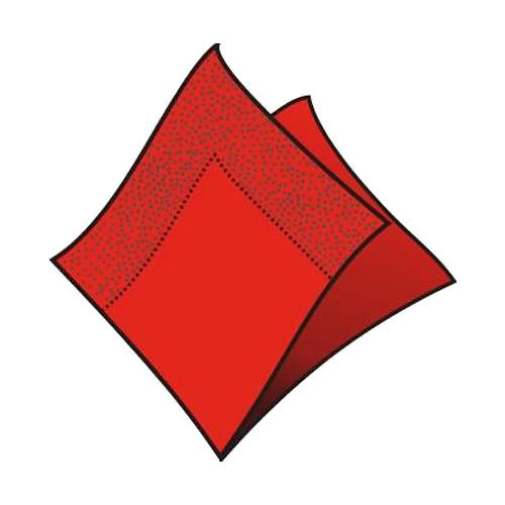 Servítky koktejlové 24 x 24 cm, 2 vrstvy, červené
