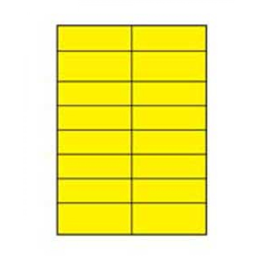 Etikety univerzálne 105x37 žlté