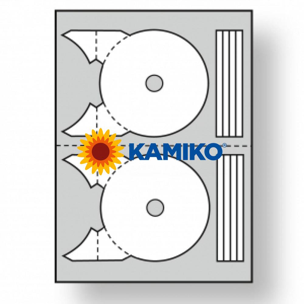 Etikety univerzálne na CD/DVD 117,5 -17 mm 119884