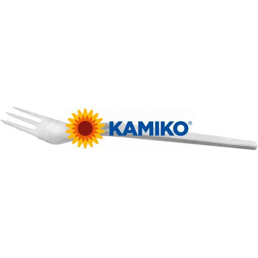 Vidlička na múčnik plastová biela 14 cm