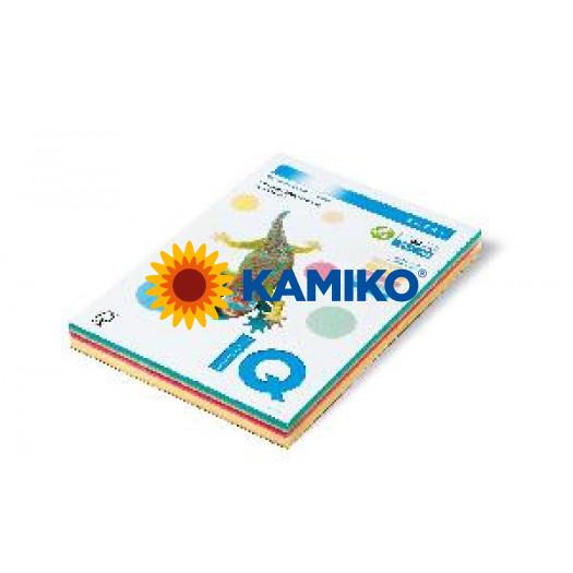 Kopírovací papier 80g A4 IQ color 5x50 mix pastelové farby