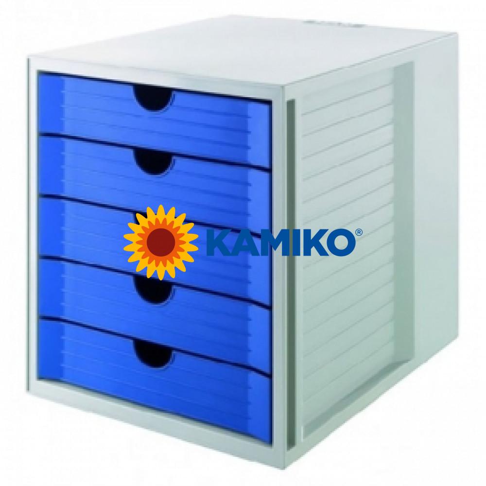 Zásuvkový box System KARMA eko-modrý