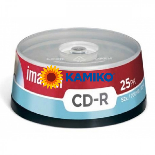 CD-R Imation 25 ks cake, 52x 700 MB