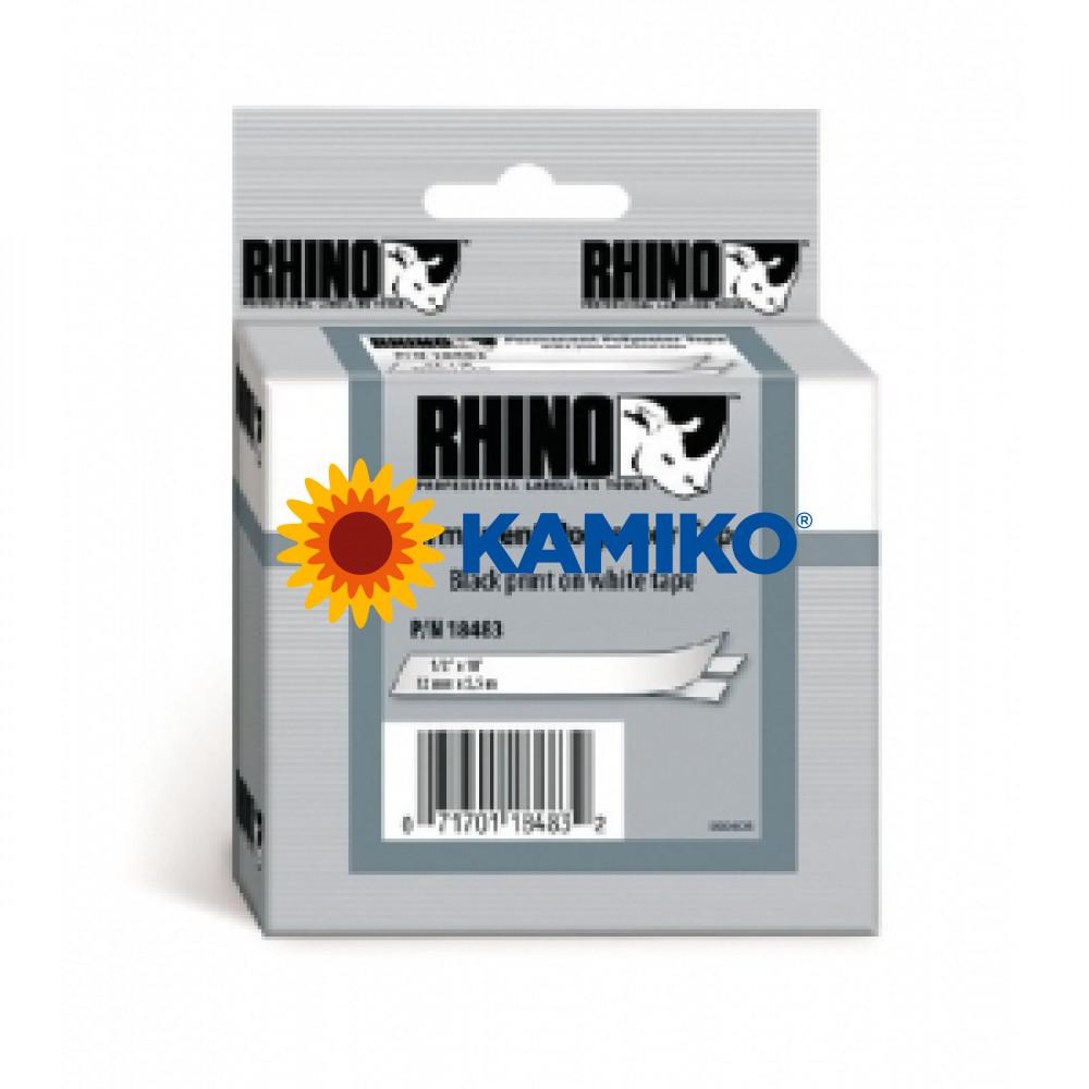 Permanentná polyesterová páska Dymo D1 12mm biela/čierna