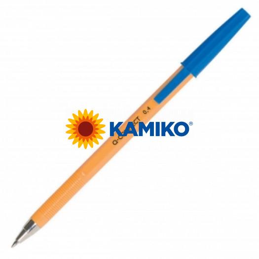 Jednorázové guličkové pero Q-CONNECT F modré