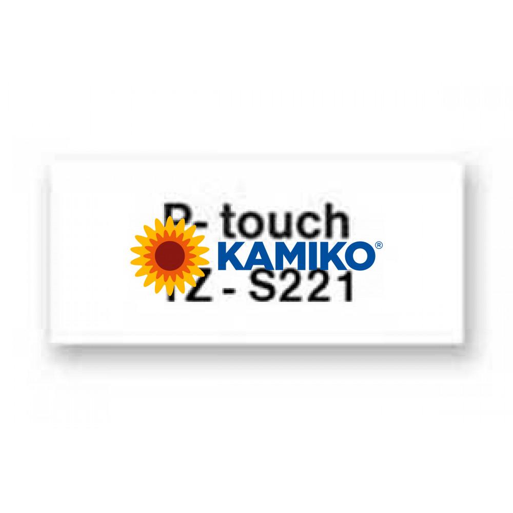TZe-S221 Páska 9mm biela/čierna