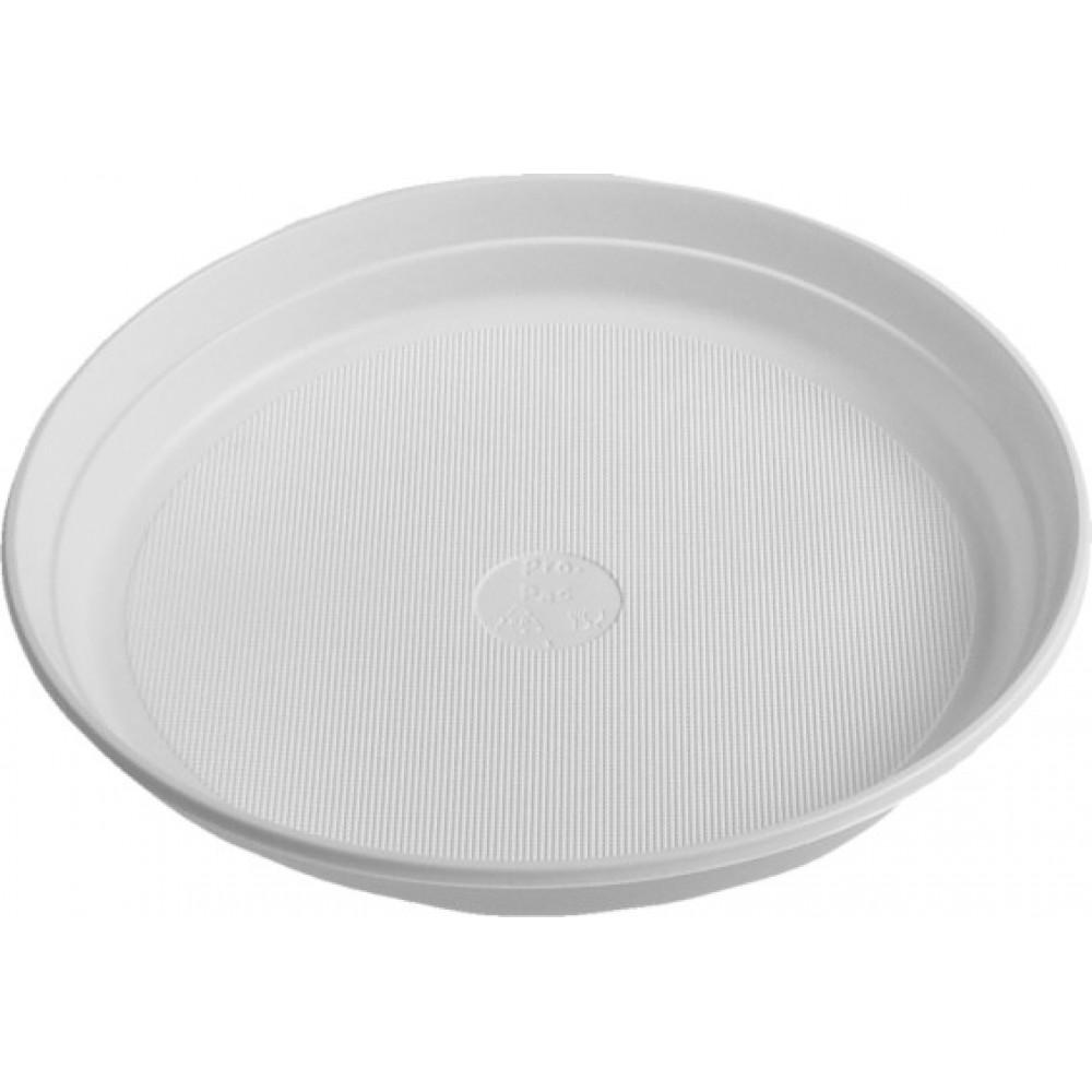 Tanier biely 22 cm plastový