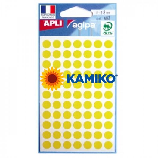 Etikety 8 mm žlté, maloobch.balenie