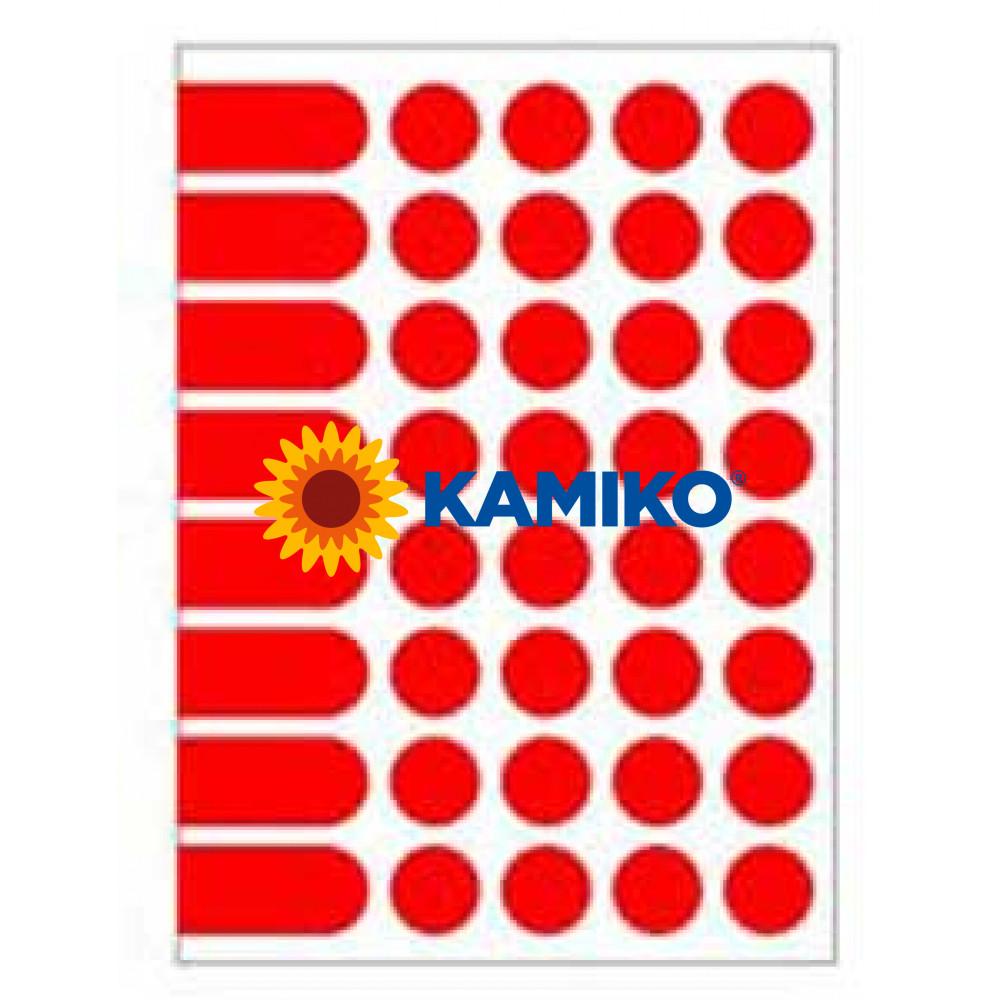 Agipa Etikety kruhové pr. 24 mm červené, 10 hárkov