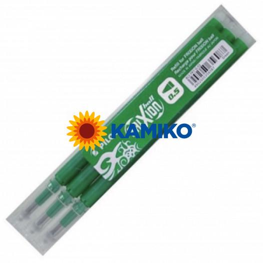 Náhradná náplň do rollera PILOT Frixion 0,5 mm zelená, 3 ks
