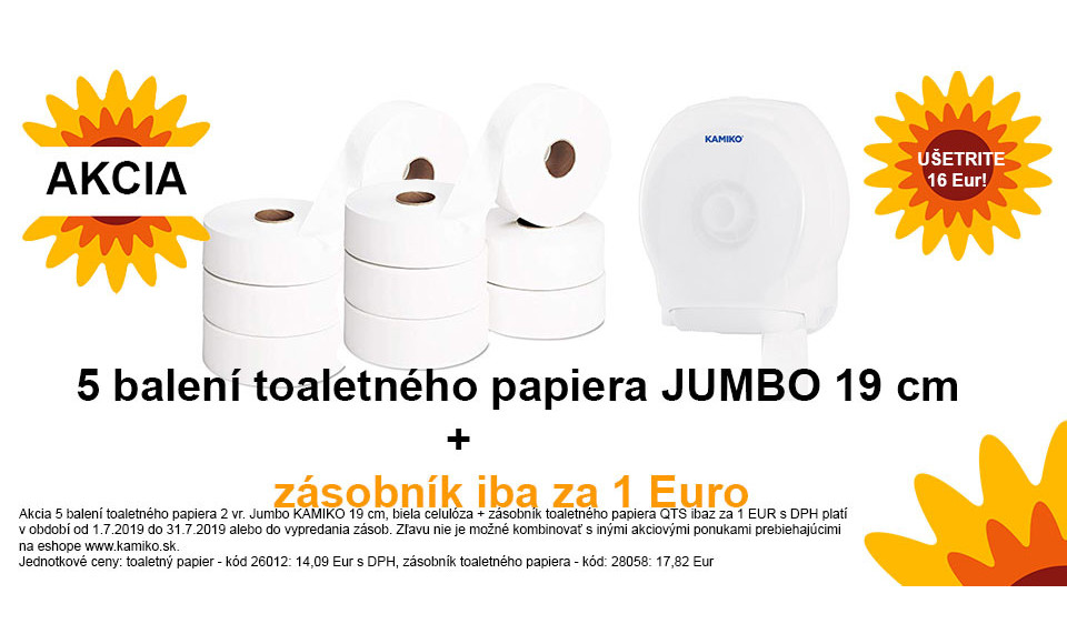 Akcia toaletný papier a zásobník
