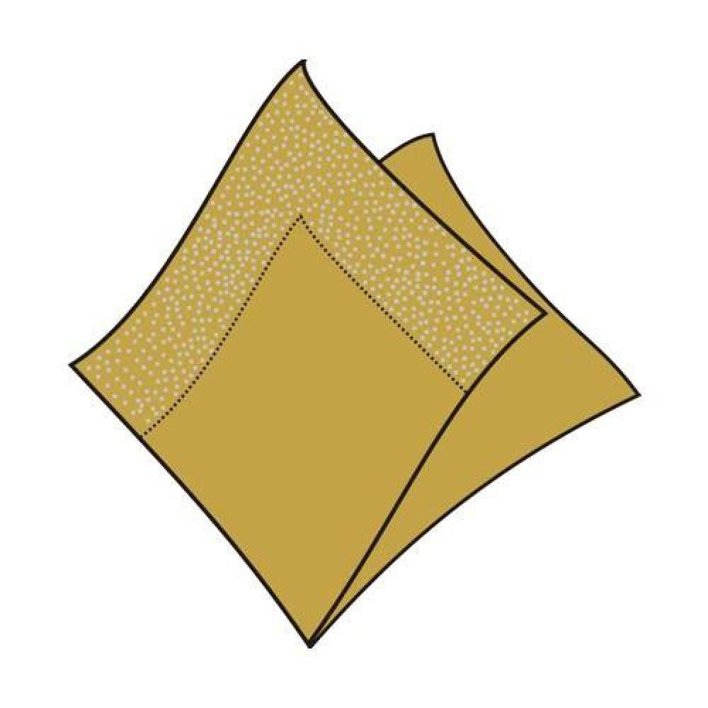 Servítky 33 x 33 cm, 3 vrstvy, zlaté